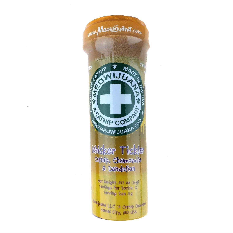 Meowijuana Whisker Tickler Catnip - Chamomile, Dandelion, and Catnip Blend
