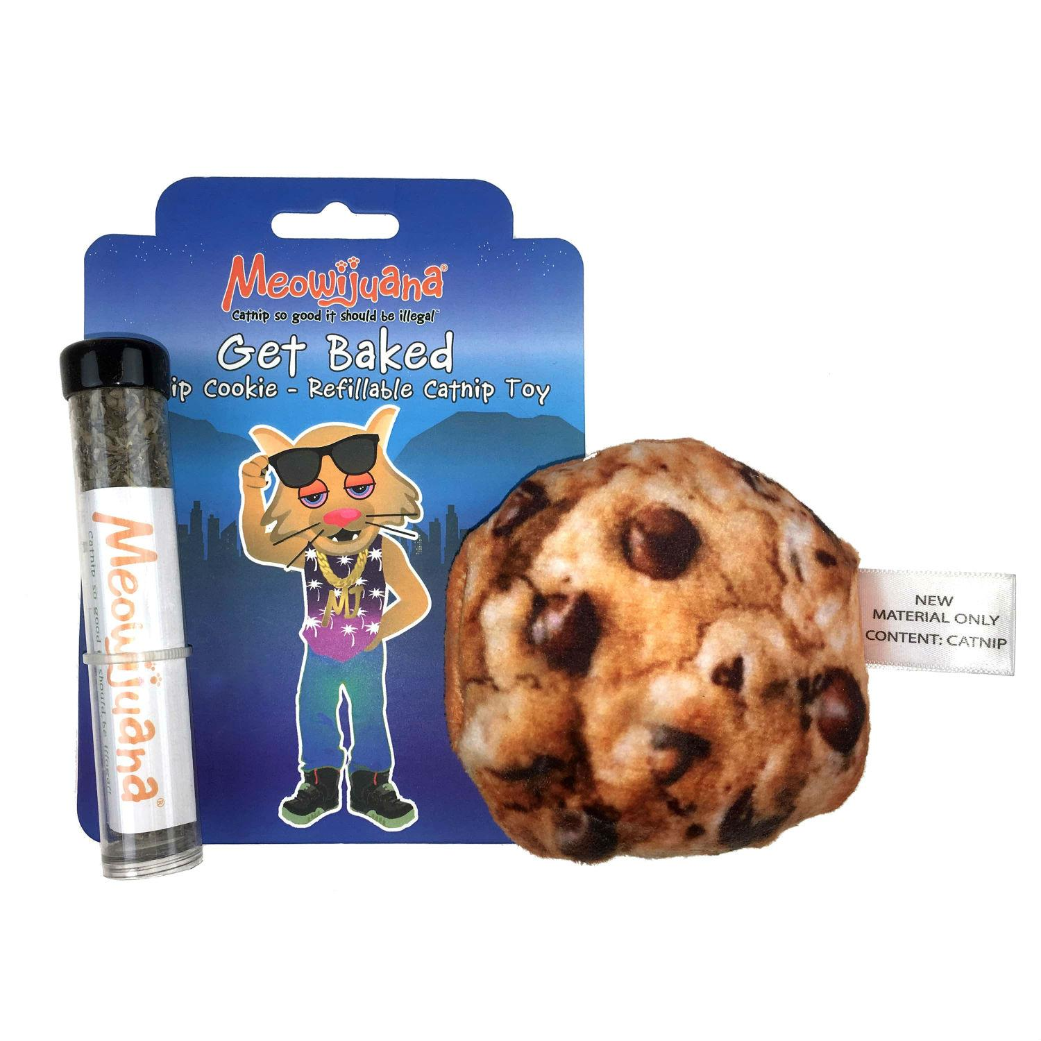 Meowijuana Get Baked Refillable Cookie Cat Toy