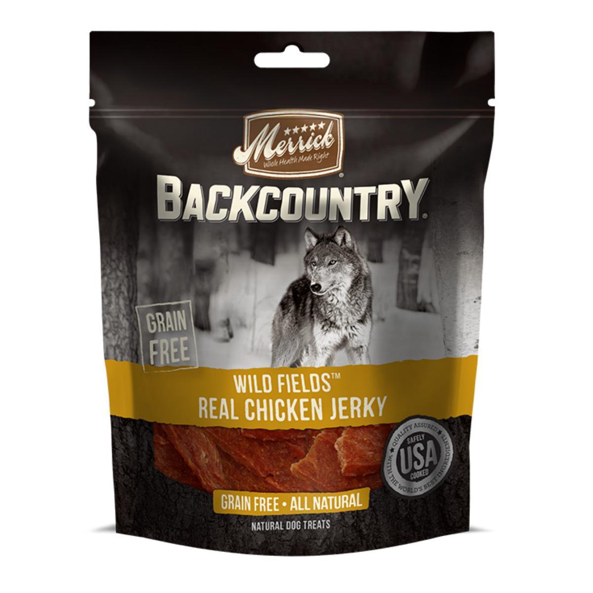 Merrick Backcountry Dog Treats - Wild Fields Real Chicken Jerky