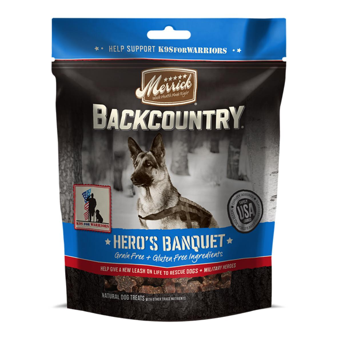 Merrick Backcountry Dog Treats - Hero's Banquet