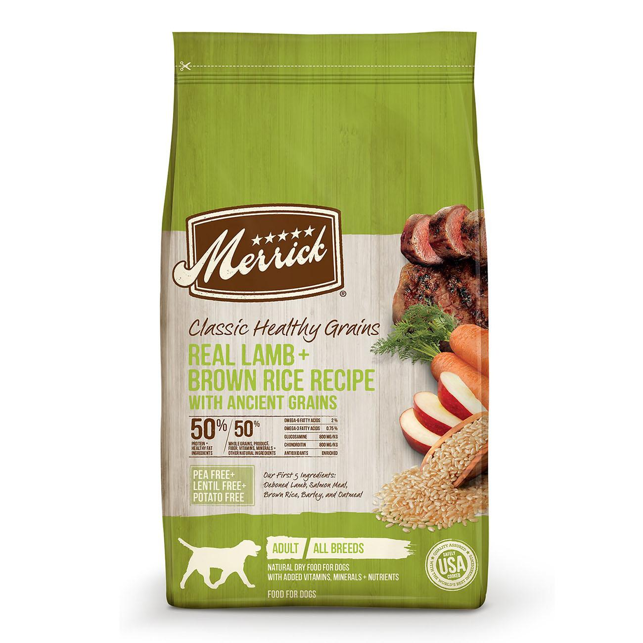 Merrick Classic Healthy Grains Dry Dog Food - Lamb & Brown Rice with Ancient Grains