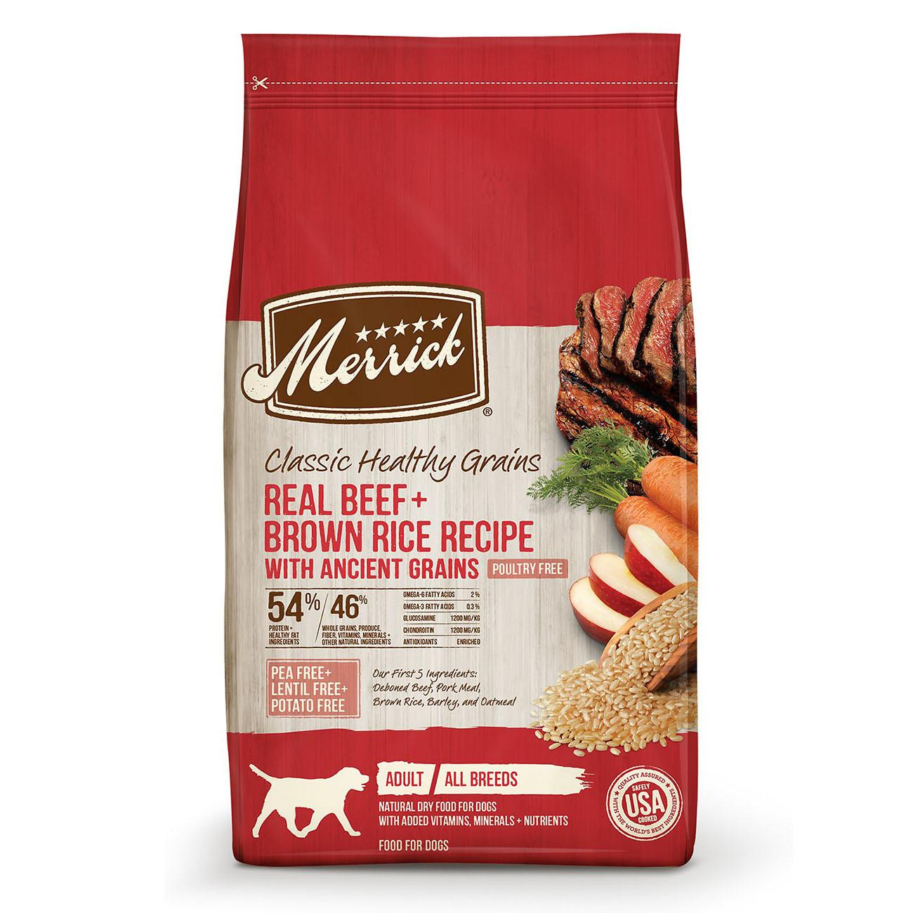 Merrick Classic Healthy Grains Dry Dog Food - Beef & Brown Rice with Ancient Grains