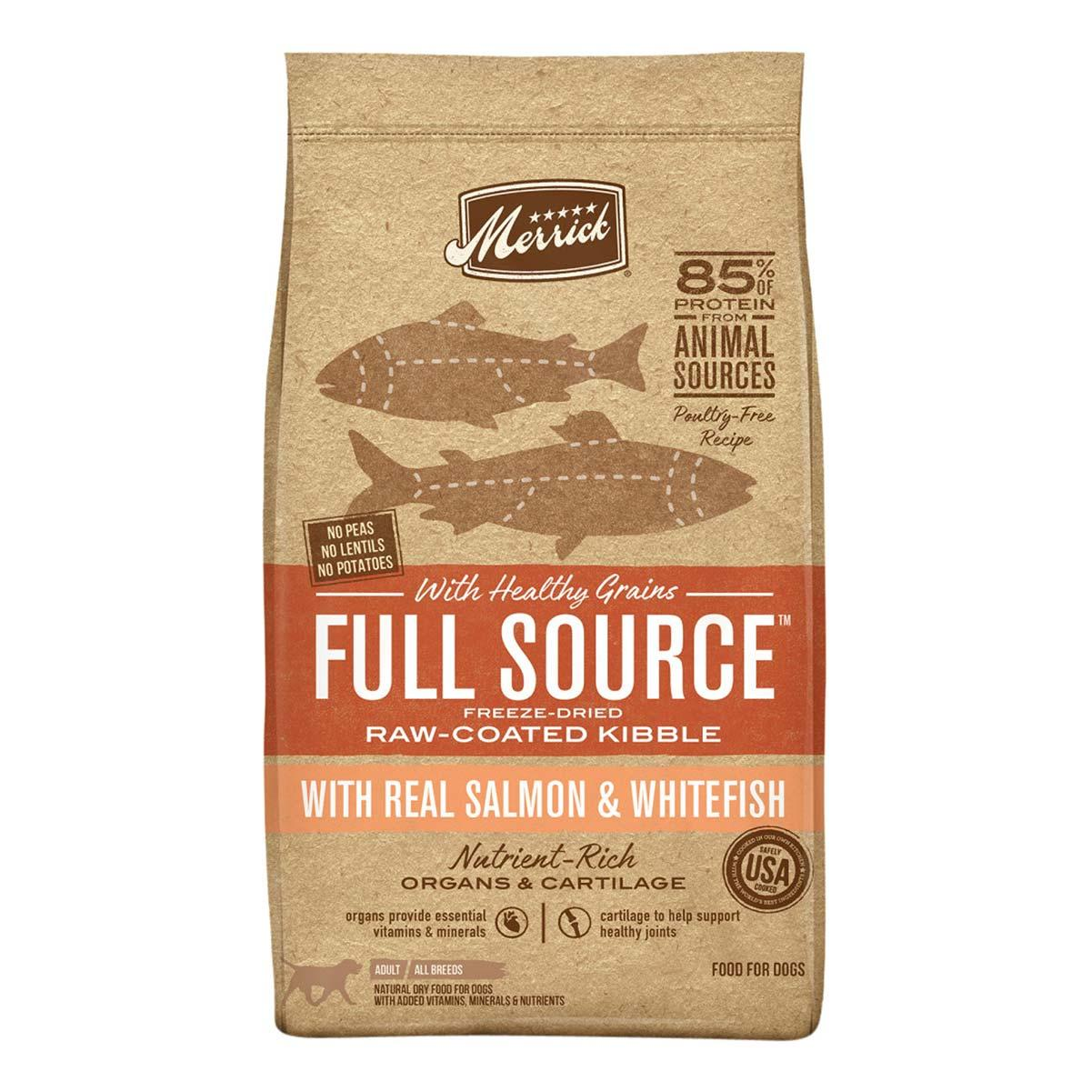 Merrick Full Source with Healthy Grains Raw-Coated Kibble with Real Salmon & Whitefish Dry Dog Food