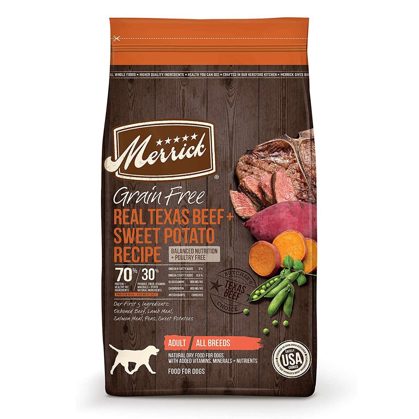 Merrick Grain-Free Dry Dog Food - Real Texas Beef & Sweet Potato Recipe