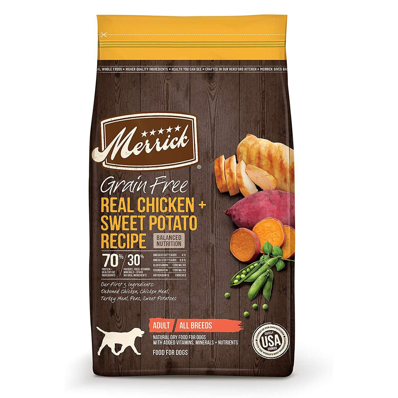 Merrick Grain-Free Dry Dog Food - Real Chicken & Sweet Potato Recipe