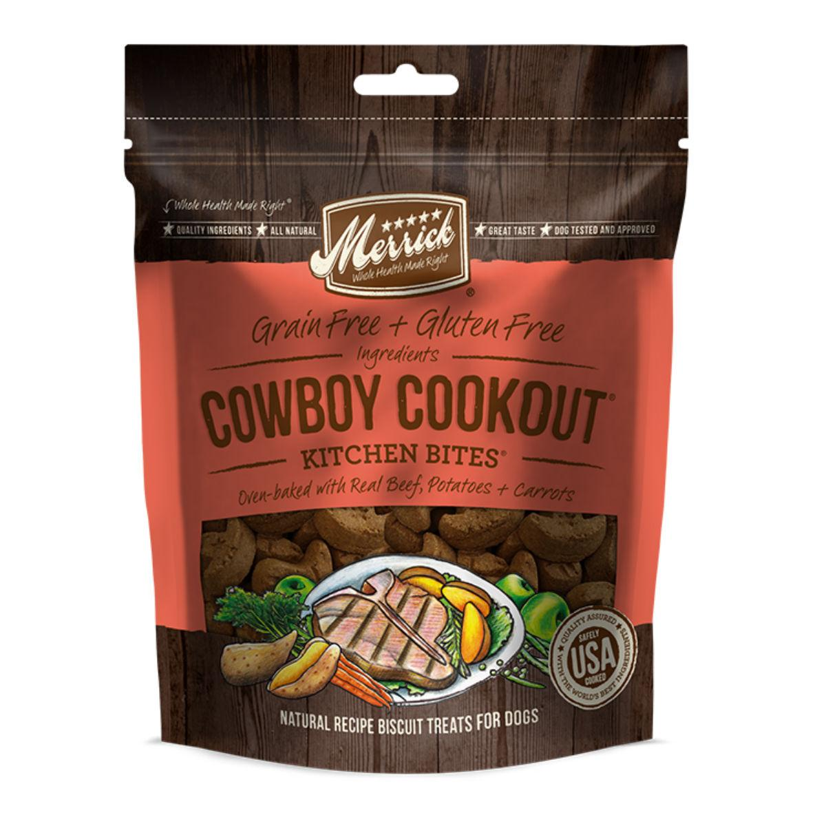 Merrick Kitchen Bites Oven Baked Dog Biscuits - Cowboy Cookout