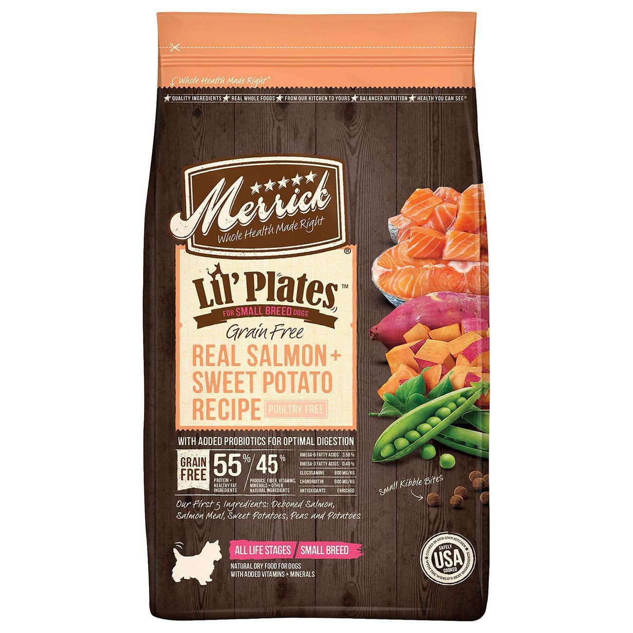 Merrick Lil'Plates Small Breed Grain-Free Dry Dog Food - Real Salmon & Sweet Potato Recipe