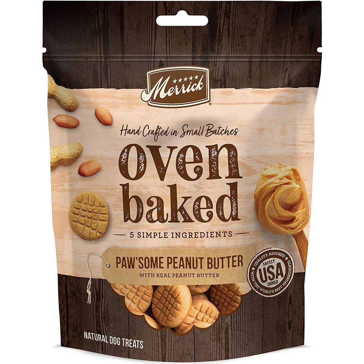 Merrick Oven-Baked Paw'Some Peanut Butter Dog Treats