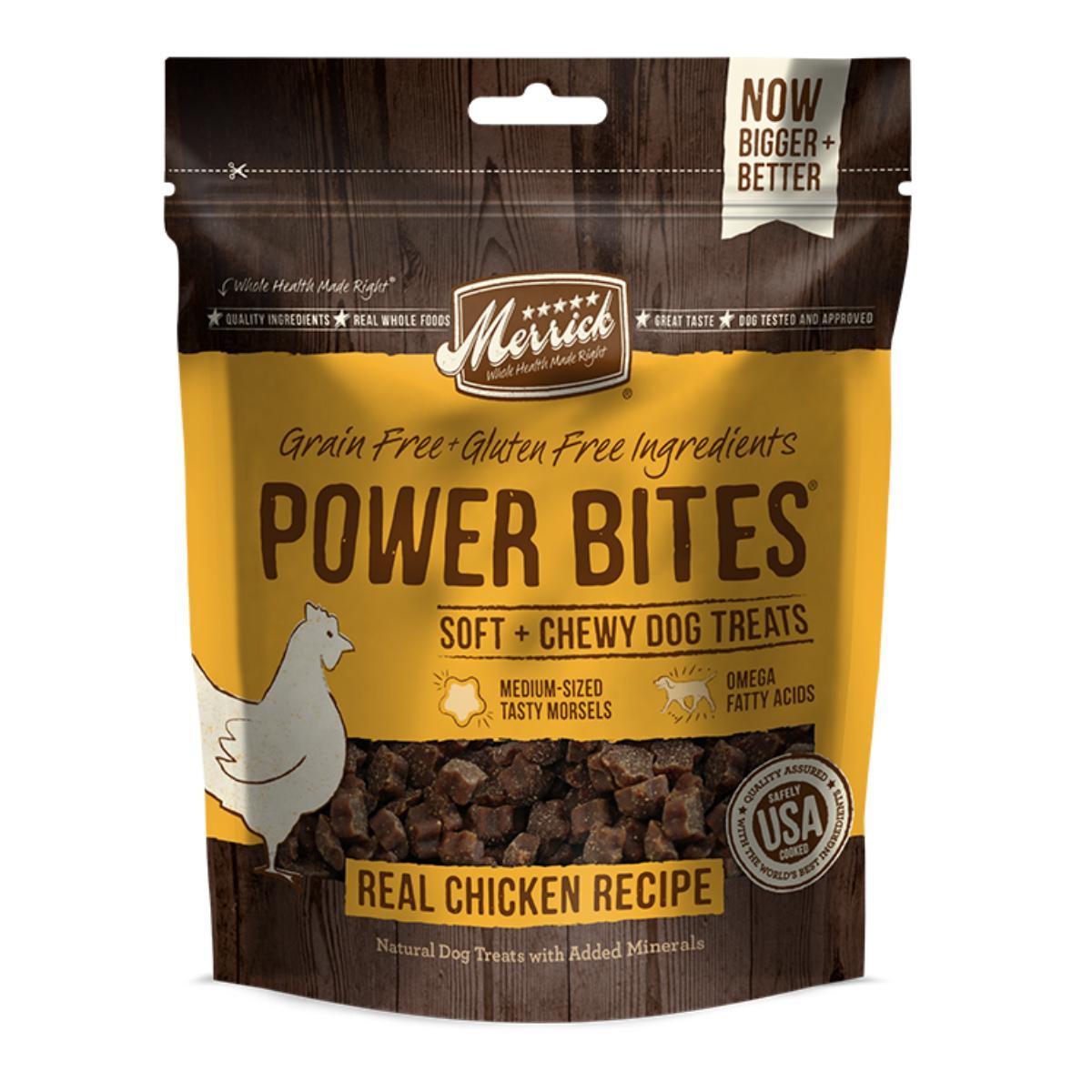 Merrick Power Bites Dog Treats - Real Chicken