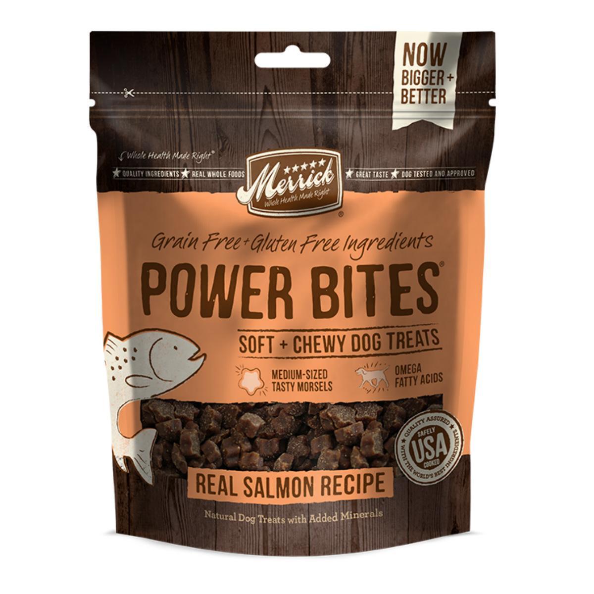 Merrick Power Bites Dog Treats - Real Salmon