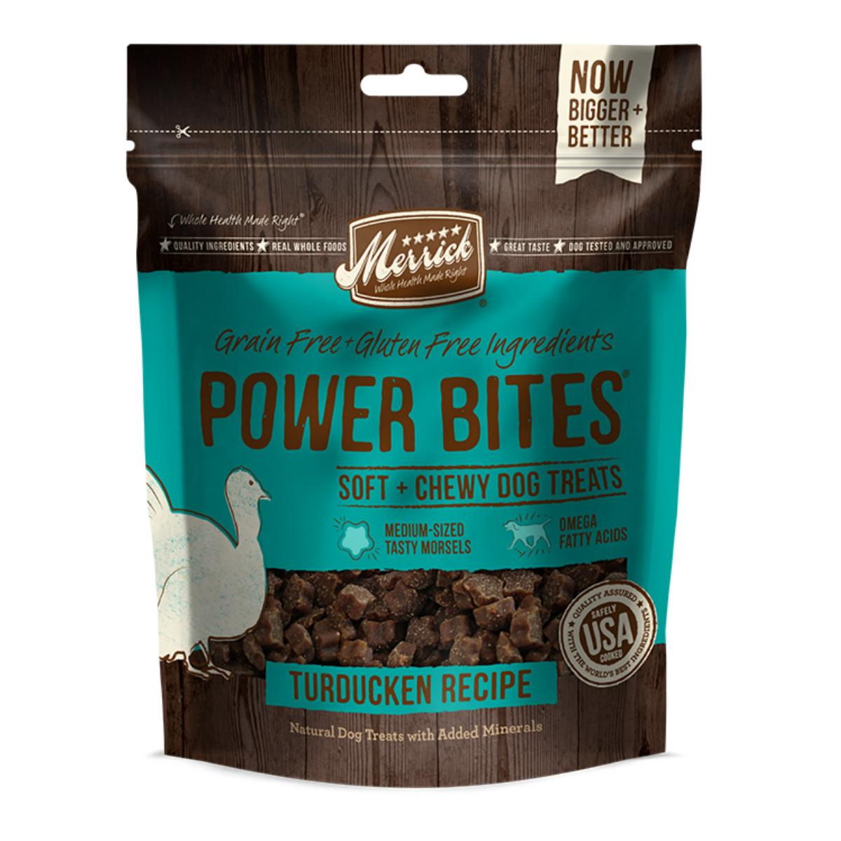 Merrick Power Bites Dog Treats - Turducken