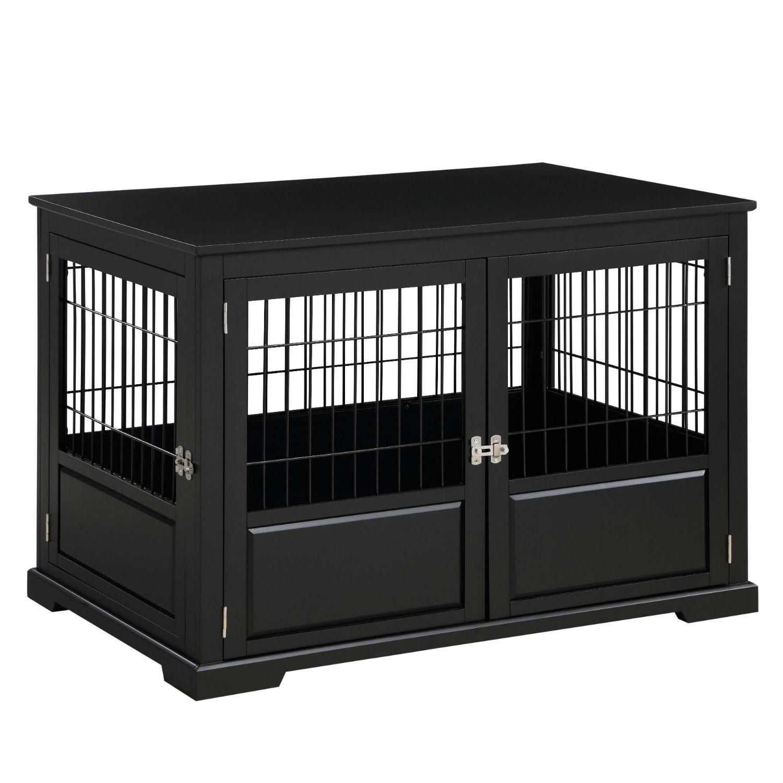 Merry Products Fairview Triple Door Dog Crate - Black