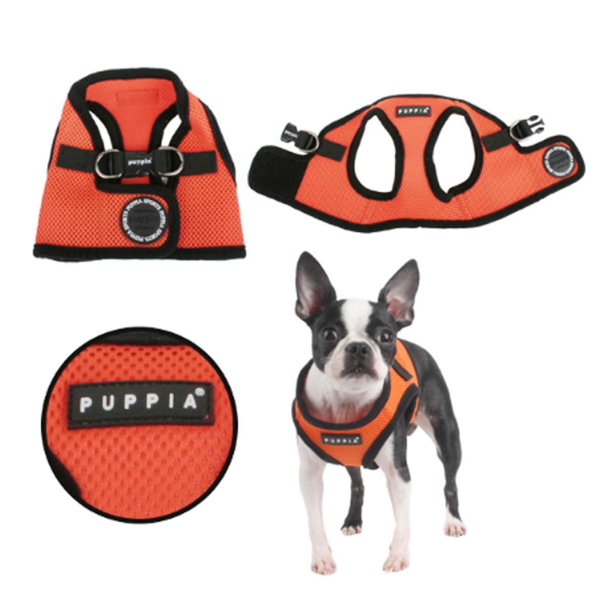 Mesh Soft Harness Vest by Puppia - Orange
