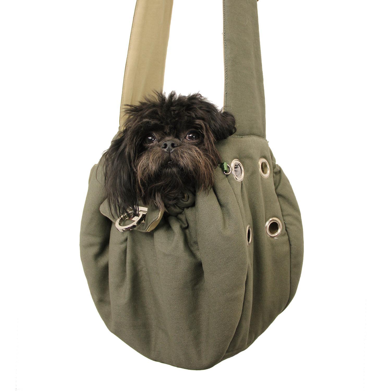 Messenger Bag Dog Carrier by Dogo - Green