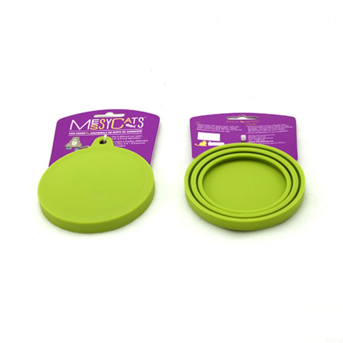 Messy Mutts Can Cover Pet Food Saver - Green