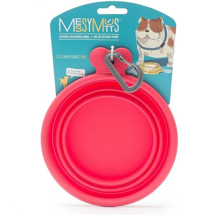 Messy Mutts Collapsible Silicone Dog Bowl - Watermelon
