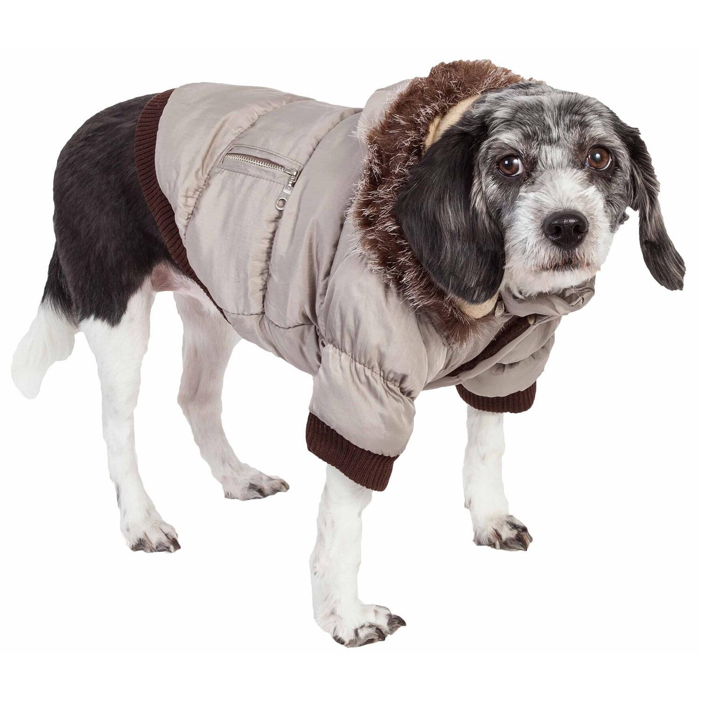 Pet Life Metallic Ski Parka Dog Coat - Gray