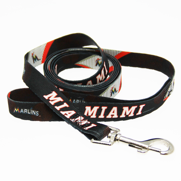 Miami Marlins Baseball Printed Dog Leash