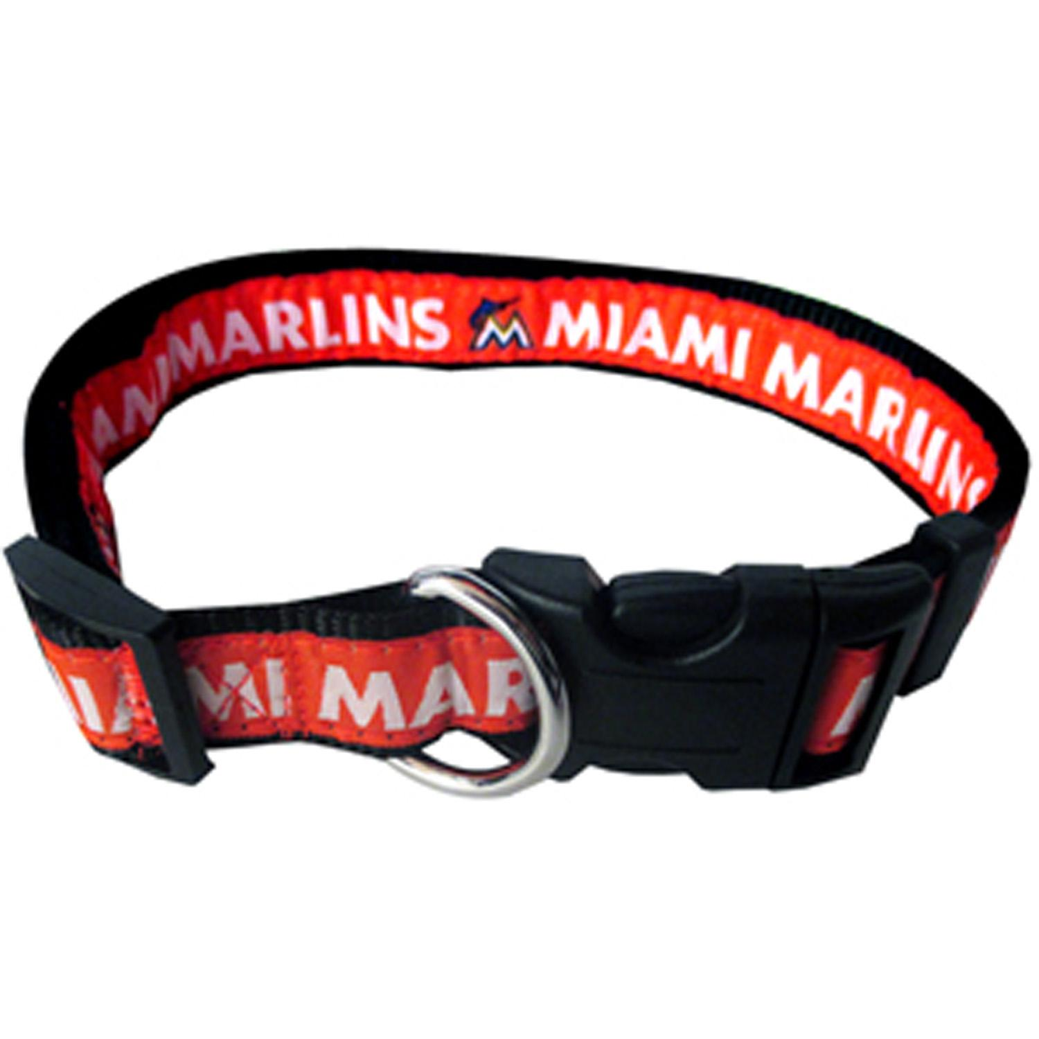 Miami Marlins Officially Licensed Ribbon Dog Collar