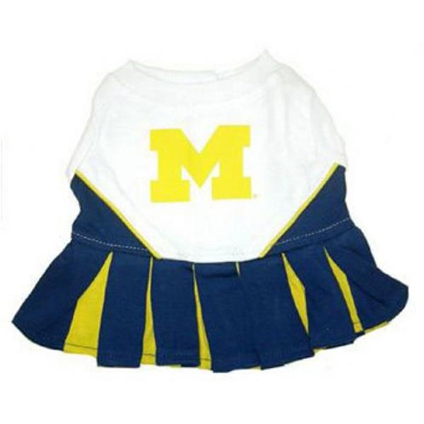 Michigan Wolverines Cheerleader Dog Dress