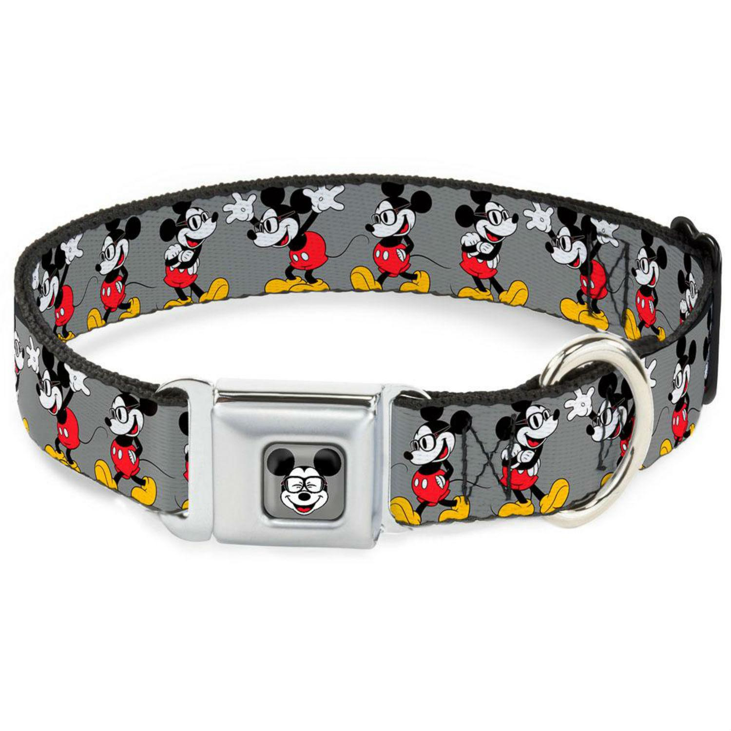 Mickey Mouse with Glasses Seatbelt Buckle Dog Collar by Buckle-Down