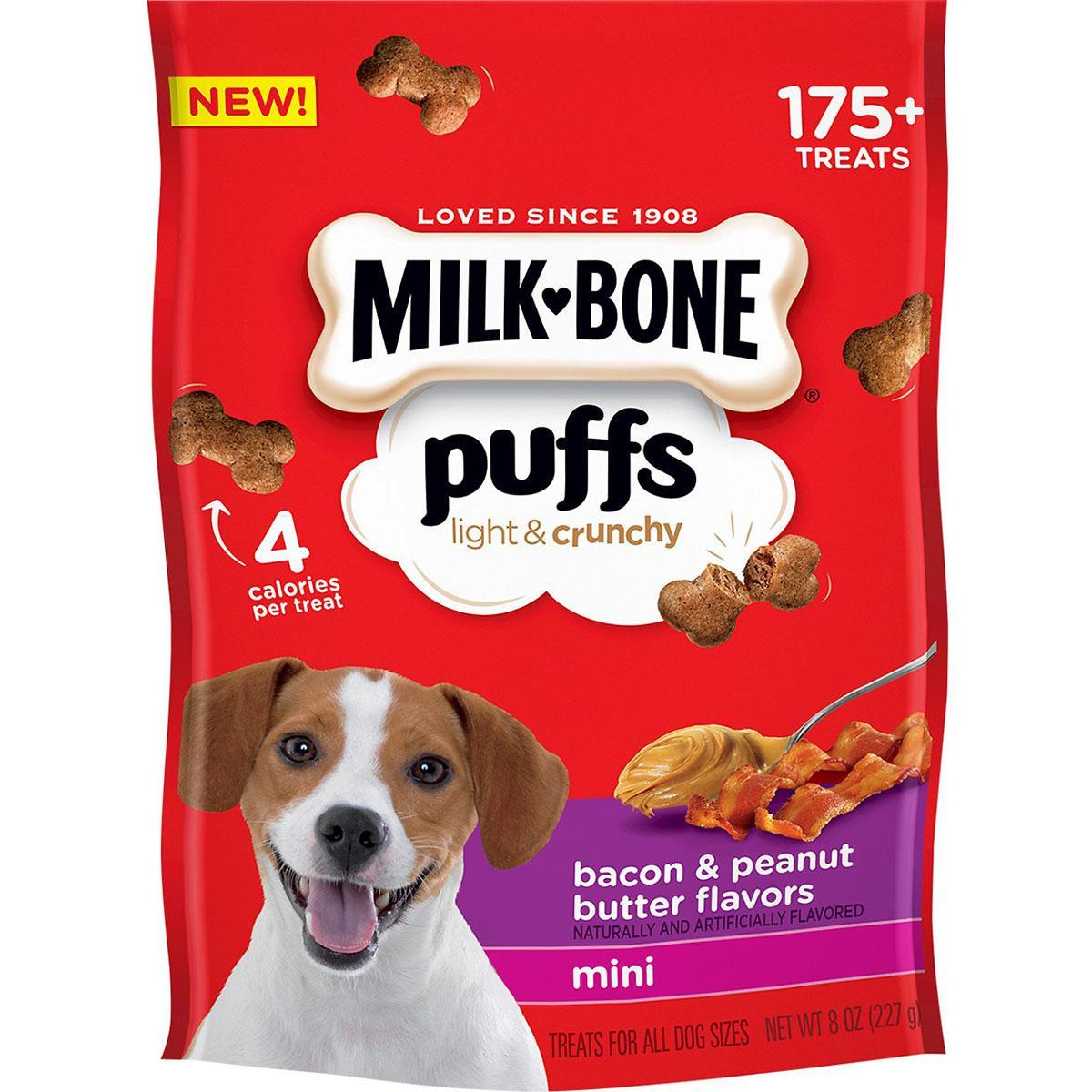 Milk-Bone Puffs Bacon & Peanut Butter Flavor Dog Treats