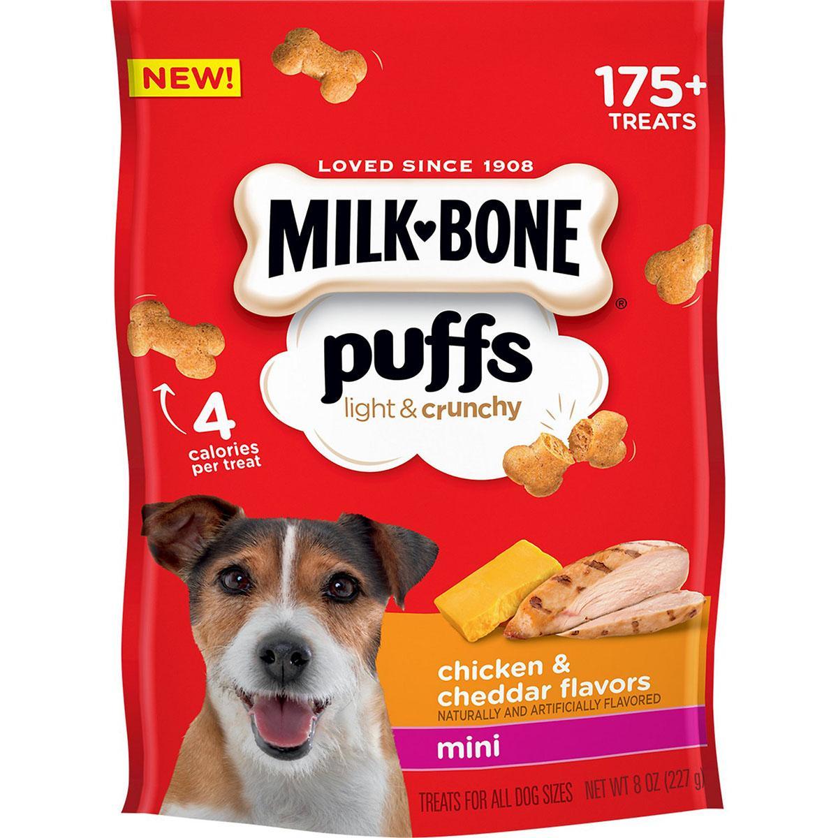 Milk-Bone Puffs Chicken & Cheddar Flavor Dog Treats