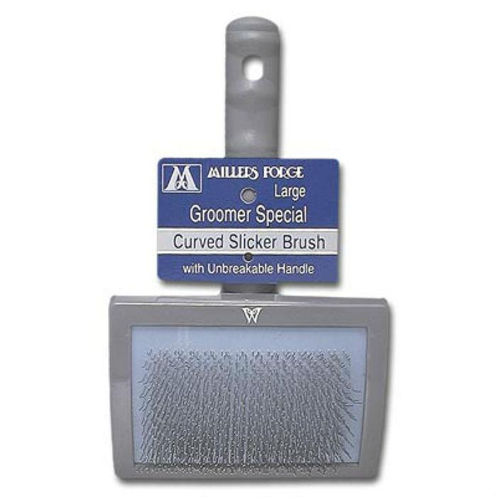 Millers Forge Curved Slicker Dog Brush