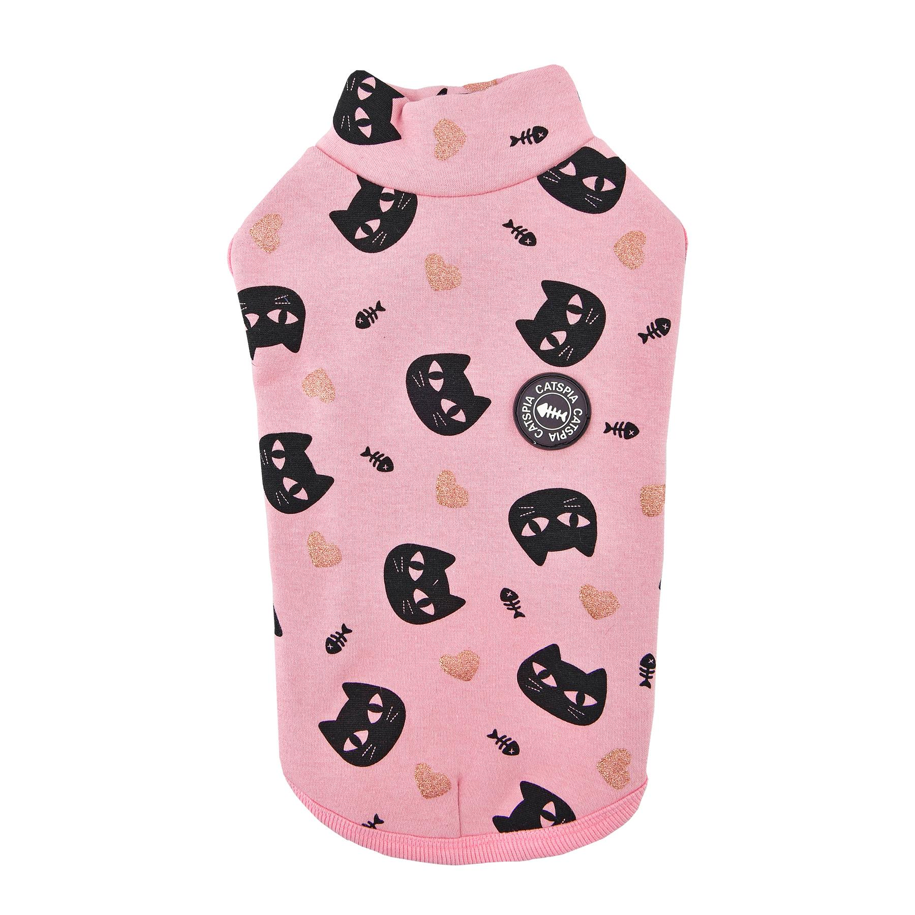 Milo Turtleneck Cat Shirt By Catspia - Pink