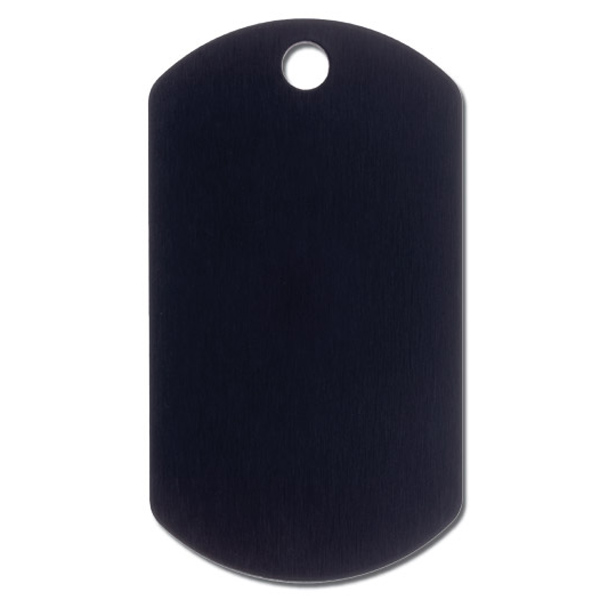 Military Large Engravable Pet I.D. Tag - Black