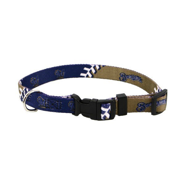 Milwaukee Brewers Baseball Printed Dog Collar