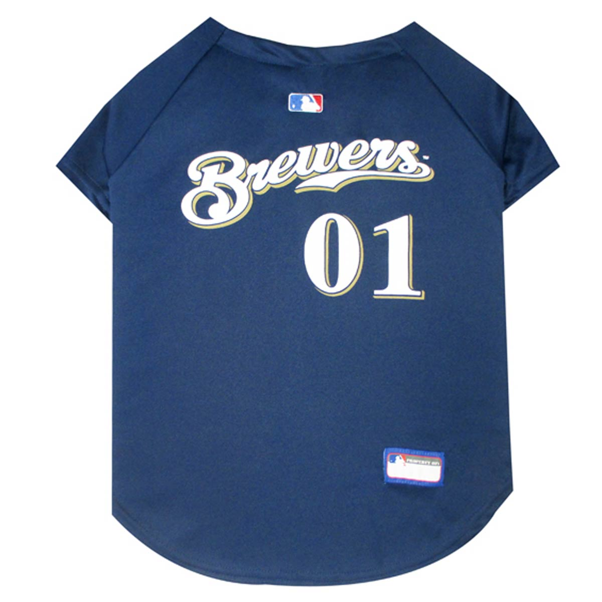Milwaukee Brewers Officially Licensed Dog Jersey - Navy Blue