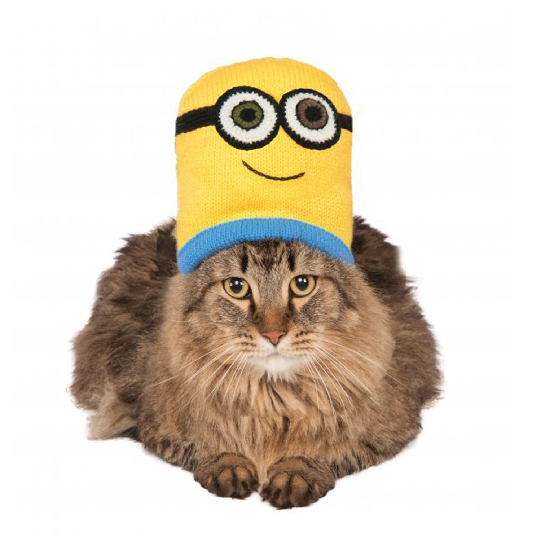 Minion Knit Cat Hat Costume - Bob