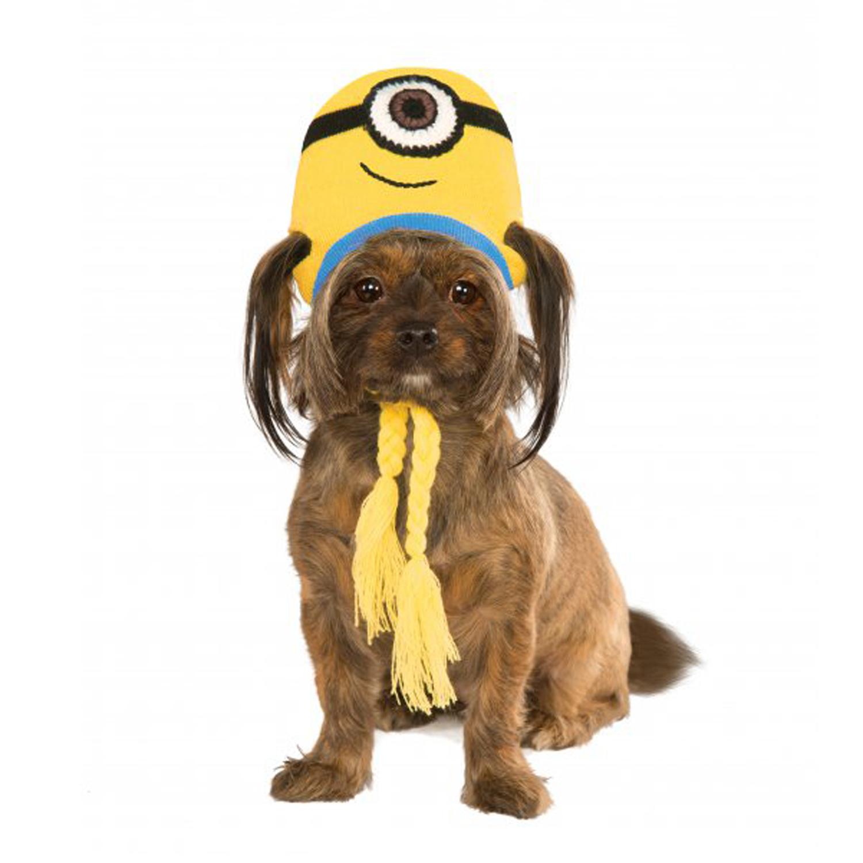 Minion Knit Dog Hat Costume - Stuart