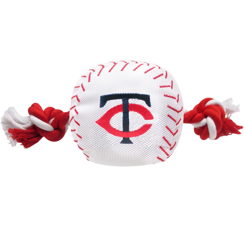Minnesota Twins Nylon Plush Baseball Rope Dog Toy