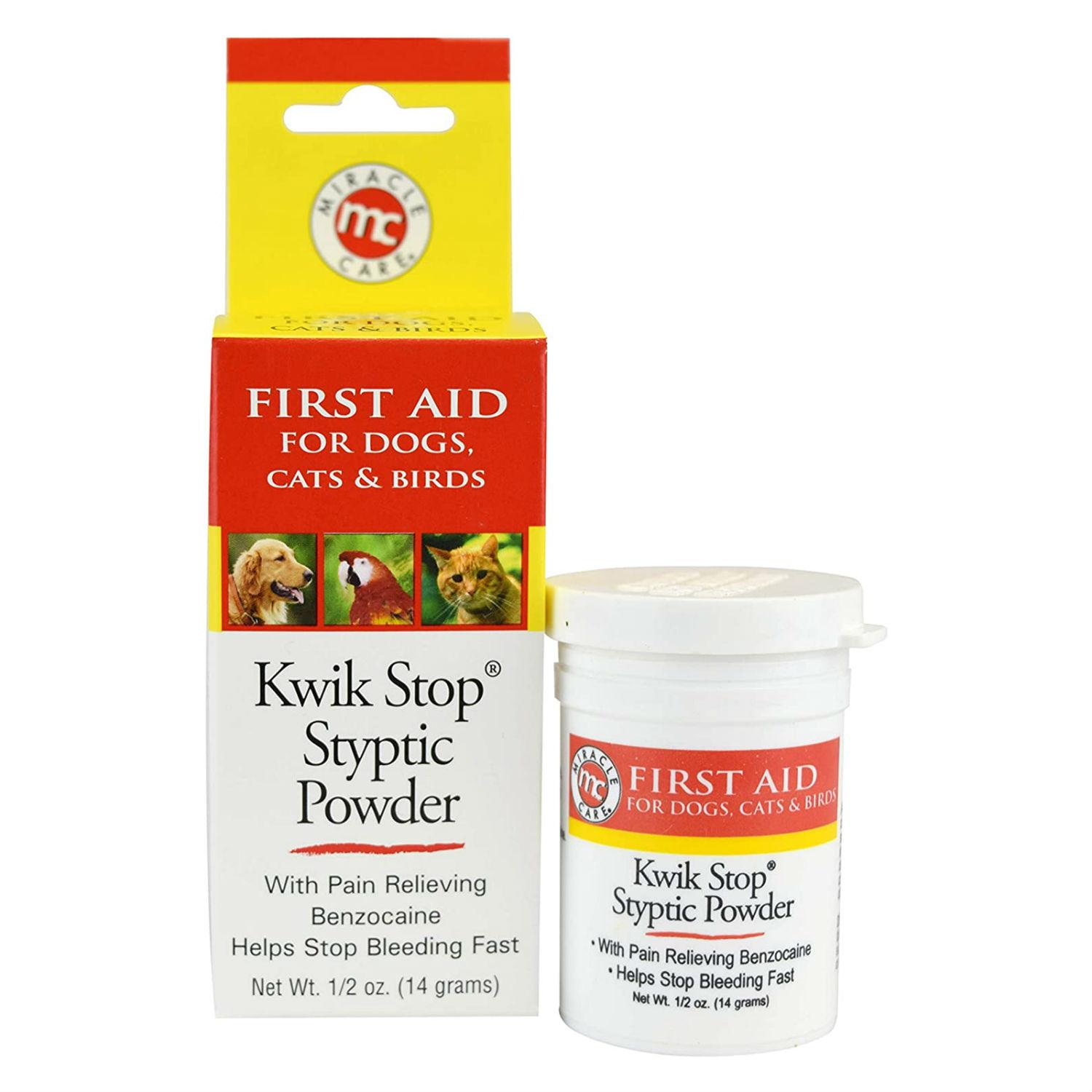 Miracle Care Gimborn Kwik Stop Styptic Powder for Dogs and Cats