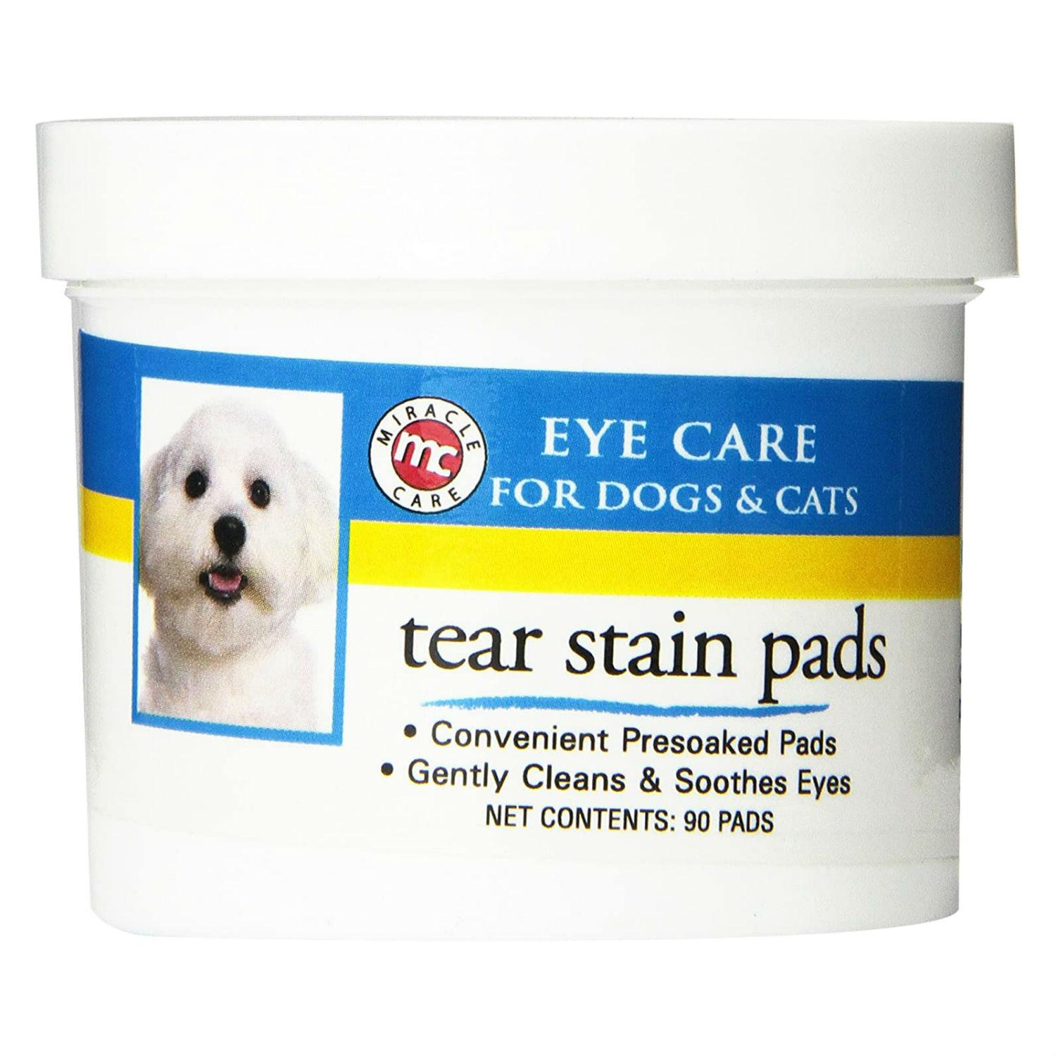 Miracle Care Tear Stain Pads for Dogs and Cats