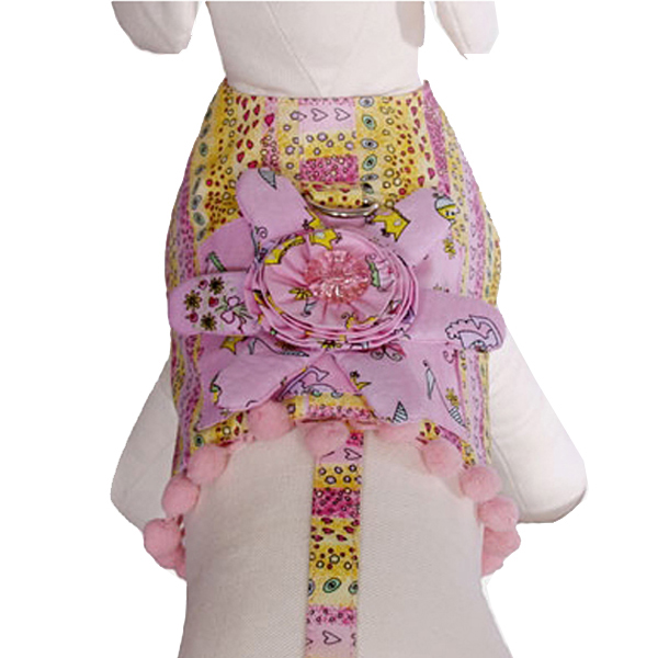 Miranda Dog Harness Vest with Leash by Cha-Cha Couture
