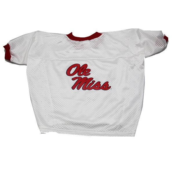 size 40 25d65 db4c9 Mississippi Rebels Dog Jersey - Ole Miss White