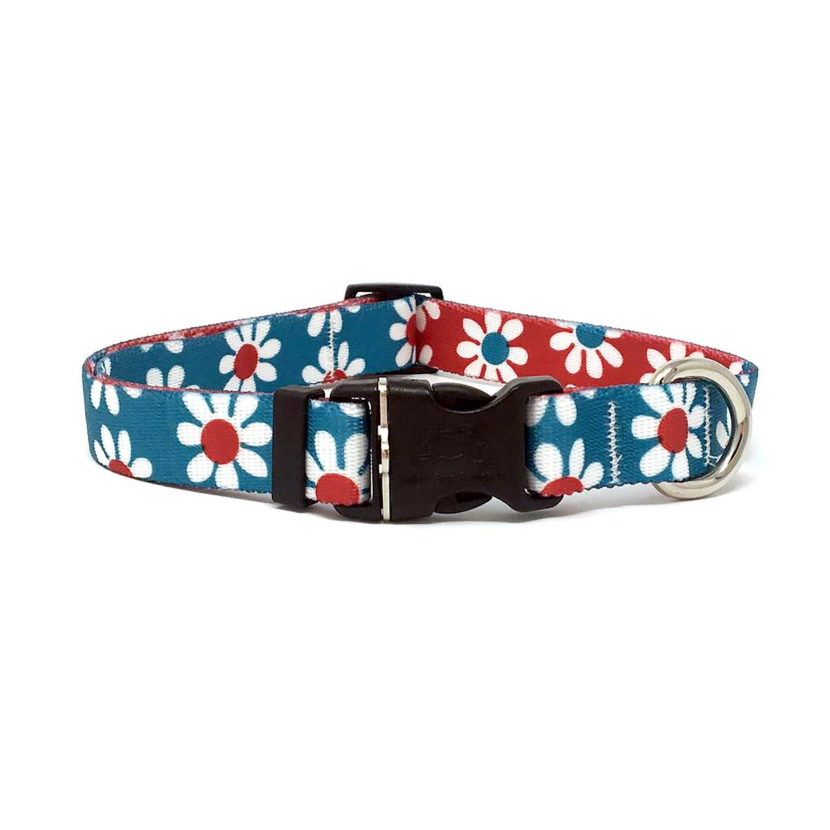 Mix and Match Daisy Dog Collar by Yellow Dog - Teal and Magenta