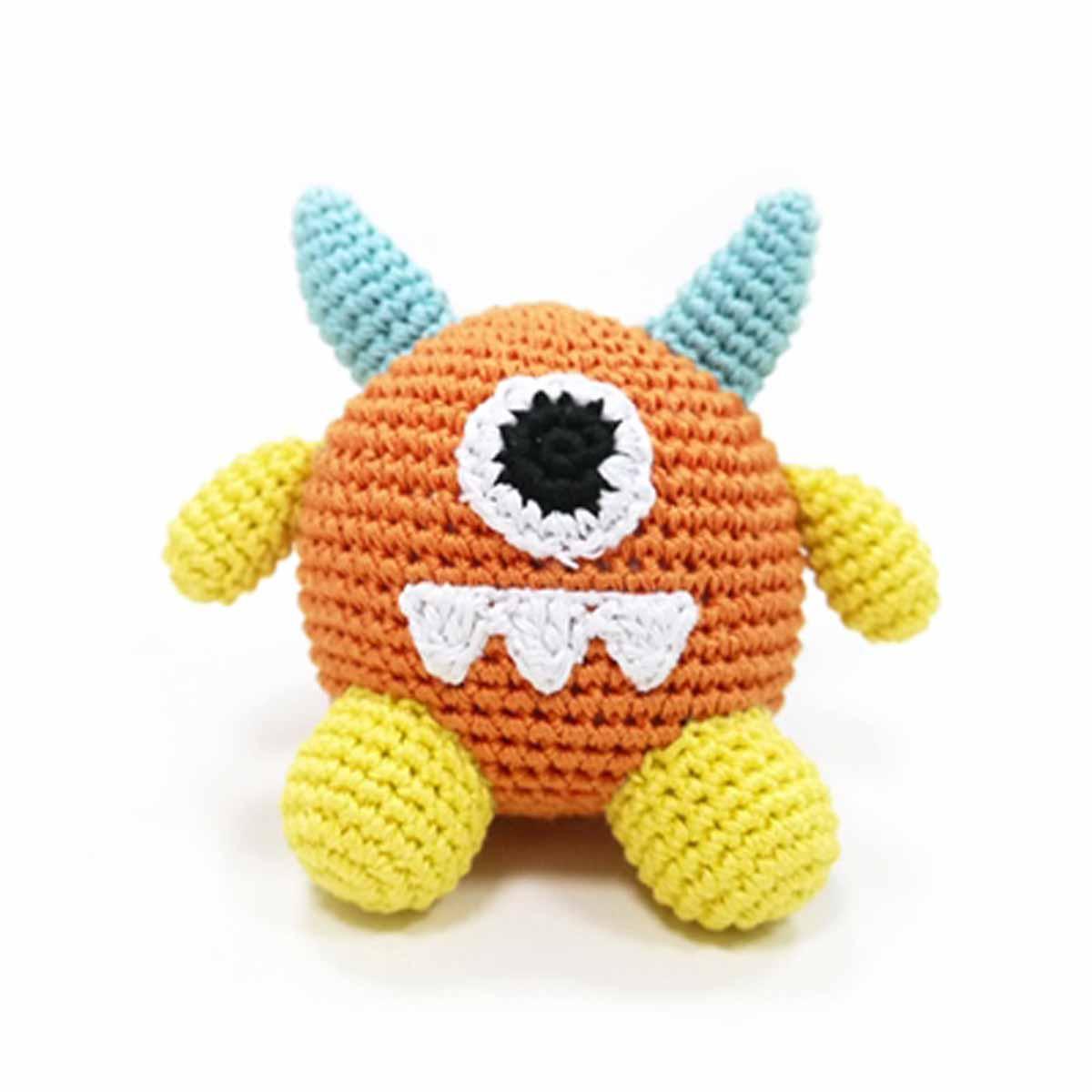 Monster Crochet Dog Toy by Dogo - Orange