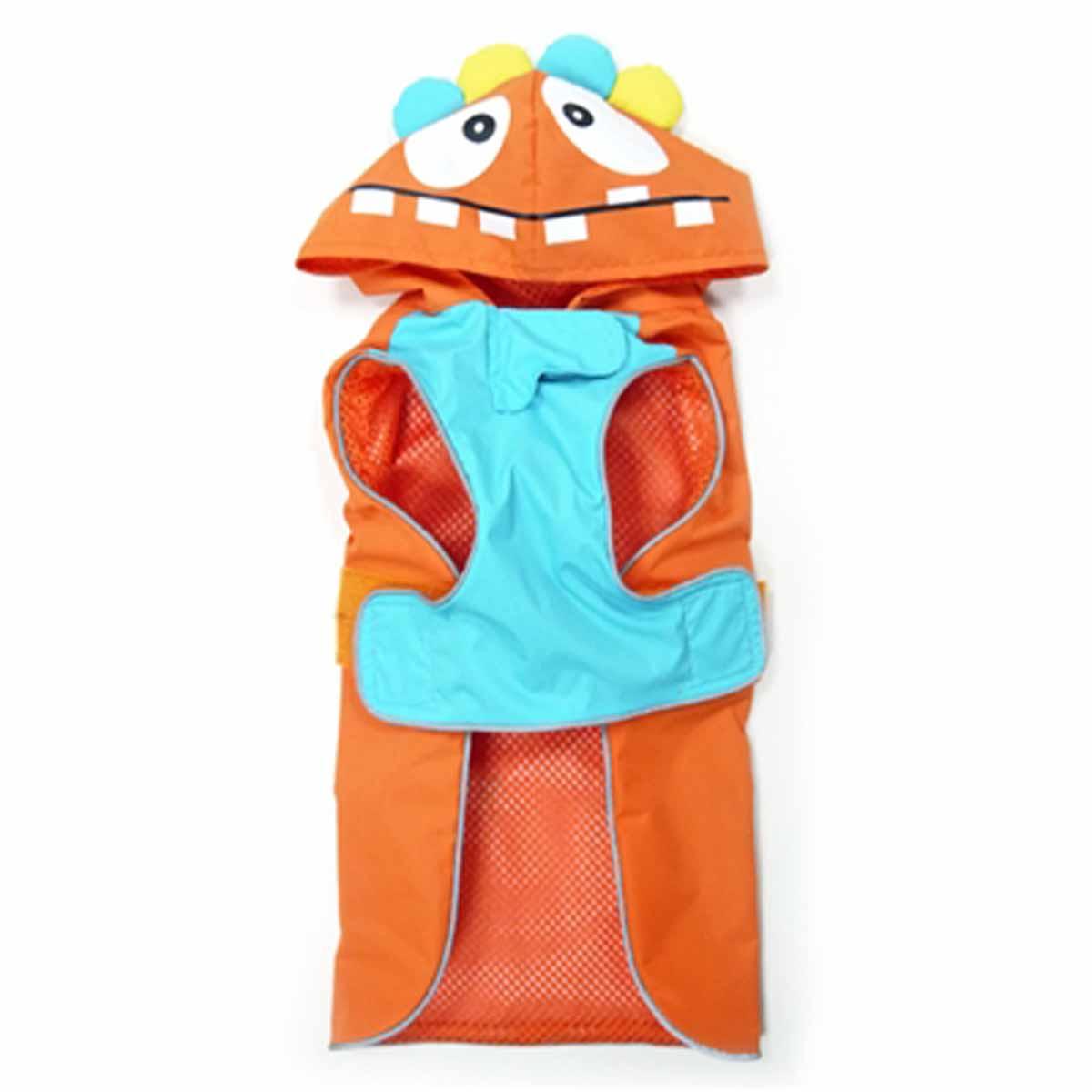 Monster Dog Raincoat by Dogo - Orange