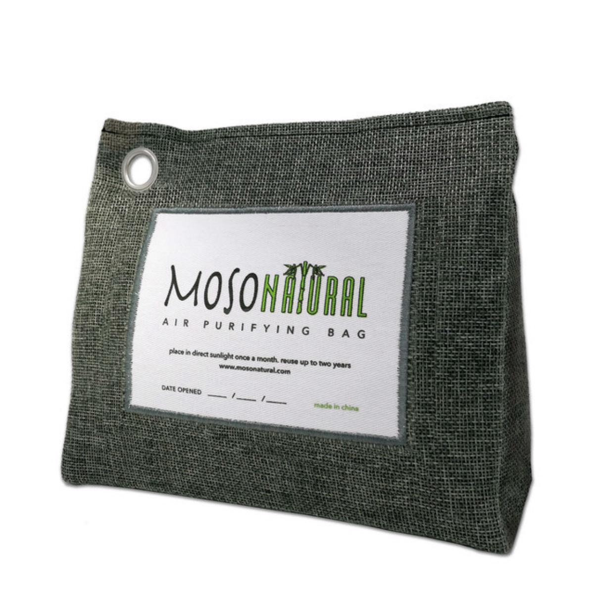 Moso Natural Air Purifying Stand Up Bag - Charcoal