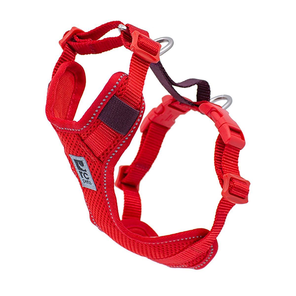 Moto Control Dog Harness - Goji Berry/Burgundy