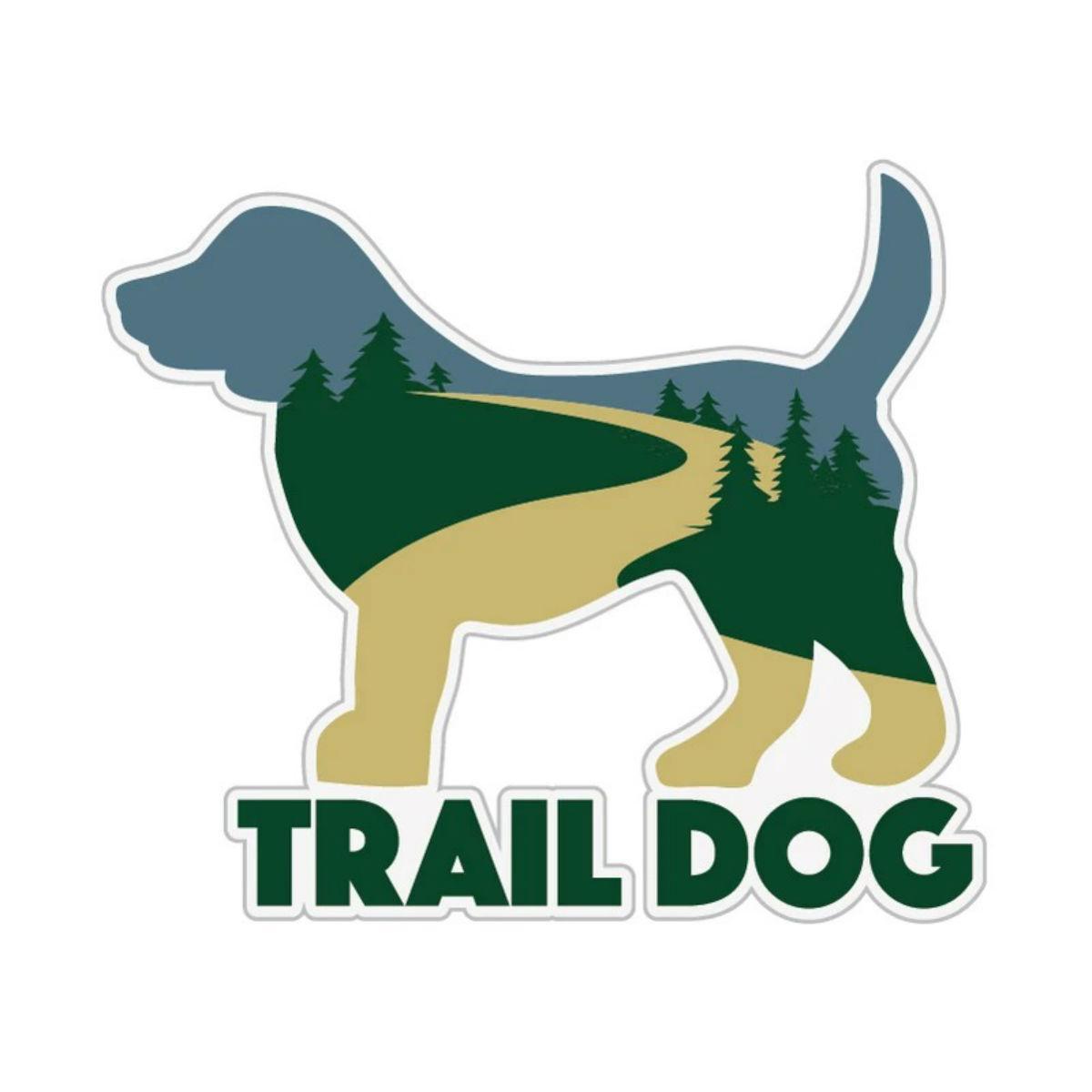 Trail Dog Sticker by Dog Speak