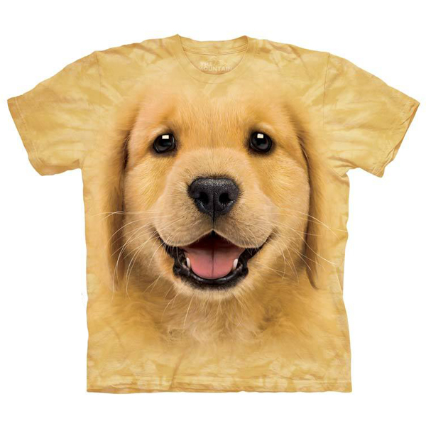 Golden Retriever Puppy Face - Human T-Shirt by The Mountain