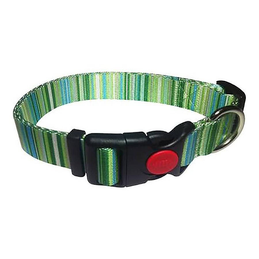 Multi-Stripes Dog Collar - Green