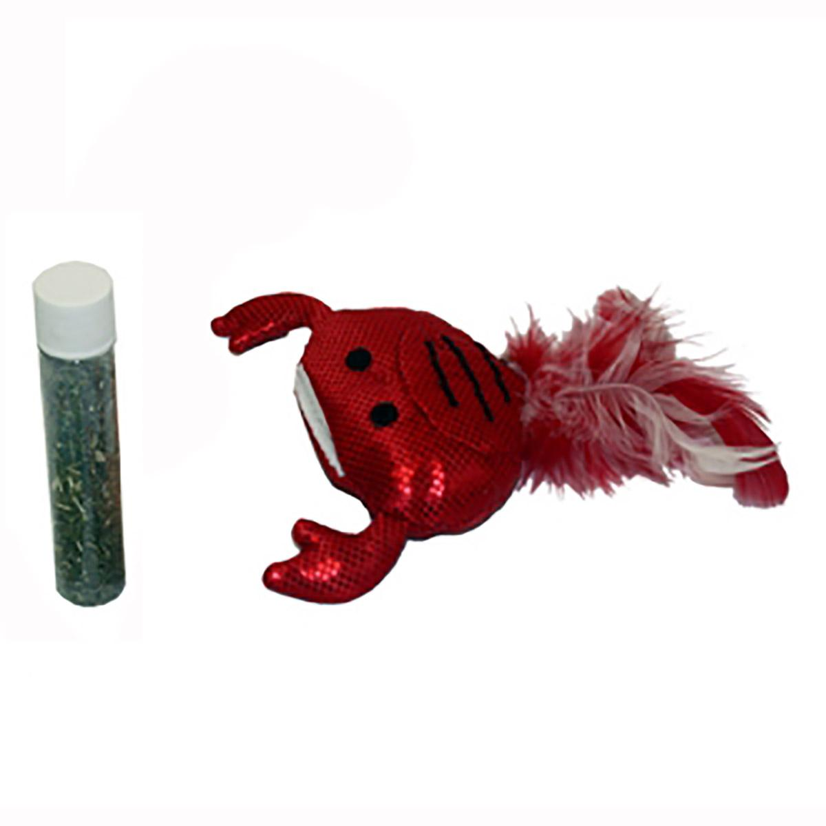 MultiPet Crab Cat Toy - Refillable Catnip Tube