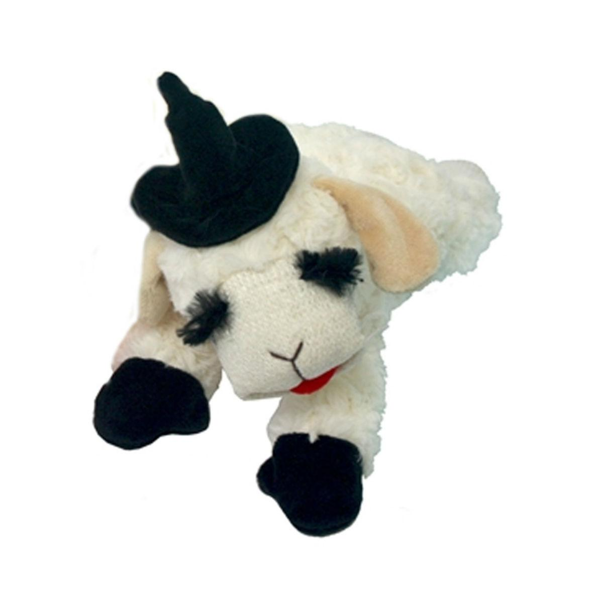 Multipets Halloween Lamb Chop Dog Toy - Black Witches Hat