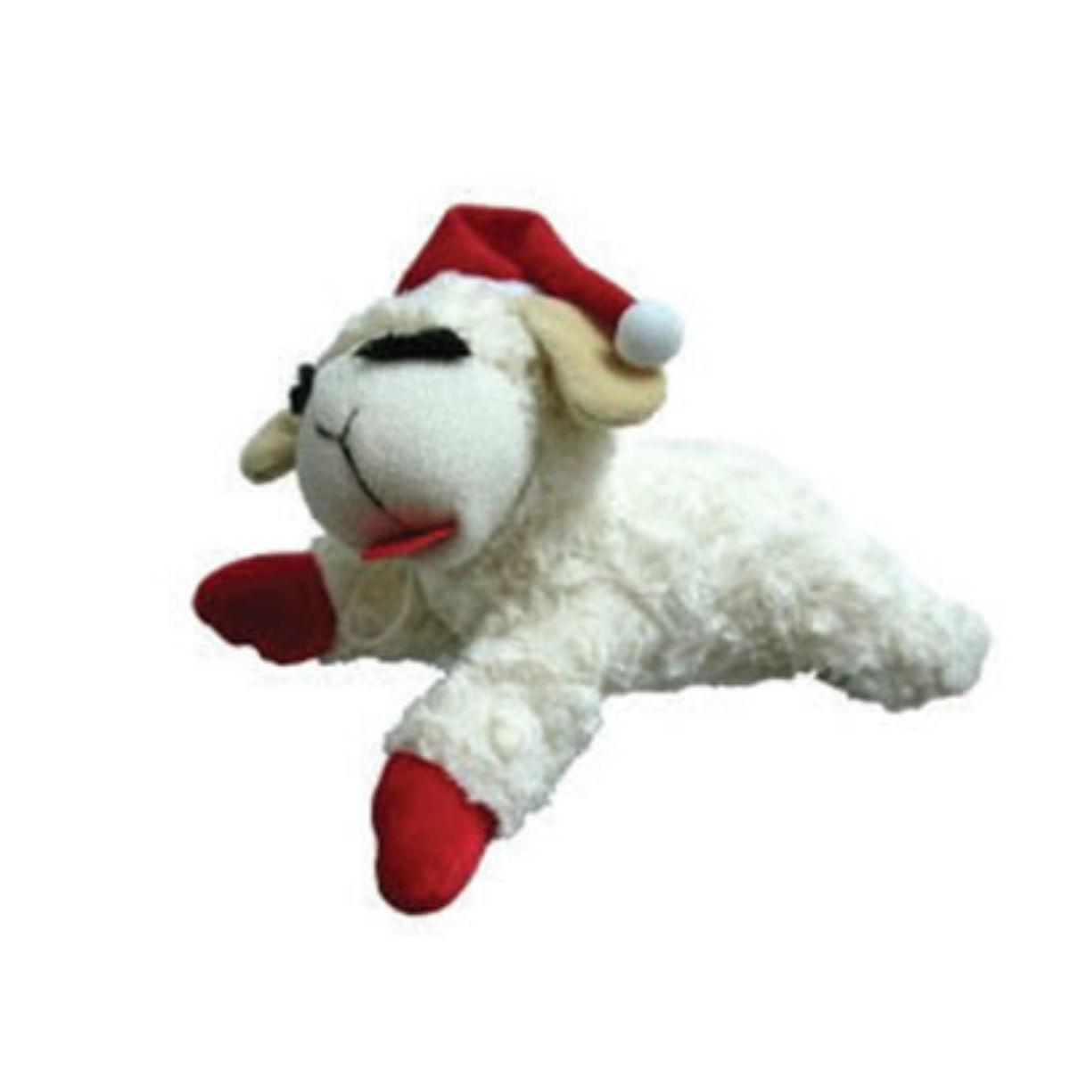 Multipets Christmas Santa Lamb Chop Dog Toy